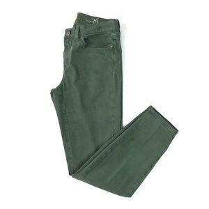J.Crew Toothpick Skinny Jeans Sz 29 Olive Green